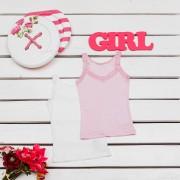 Майка для девочки мод.290 Фламинго-текстиль