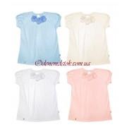 Блуза с цветами (короткий рукав) Смил