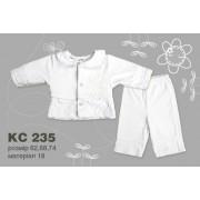 Комплект детский крестильный (велюр) КС235