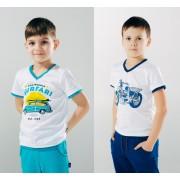 Футболка для мальчика белая ТМ Смил Мечтатели