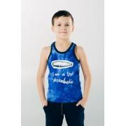 Майка-борцовка для мальчика синяя ТМ Смил Мечтатели