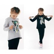 Свитшот для девочки Мопс (начес) ТМ Смил