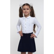 Юбка школьная с гипюром синяя, черная TM Смил-2017 (предзаказ)