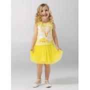Юбка нарядная  для девочки желтая ТМ Смил