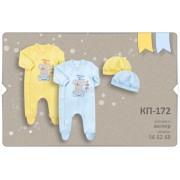 Комплект для новорожденного КП172 (велюр) Бемби