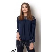 Блуза для девочки 2375т.синяя  Mevis