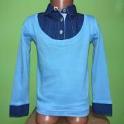 Блуза обманка голубая для девочки Bogi 2016