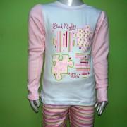 Пижама для девочки мод 245 Фламинго-текстиль