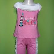 Комплект для девочки 595  Фламинго-текстиль