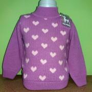 Вязаный свитер для девочки СВ7 Бемби