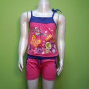 Комбинезон летний для девочки 754  Фламинго-текстиль