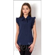 Блуза для девочки 2670 т.синий  Mevis