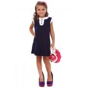 Платье синее школьное для девочки 14058