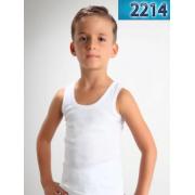 Майка для мальчика белая мод.2214  Baykar