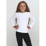 Футболка длинный рукав для девочки Белая ТМ Vidoli