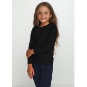 Футболка длинный рукав для девочки Черная ТМ Vidoli