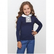 Блуза  синяя для девочки  1755 ВидОли ТМ