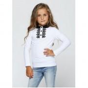 Блуза белая для девочки  1755 ВидОли ТМ