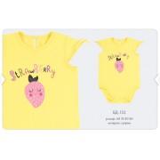 Боди для девочки БД152 желтый Бемби