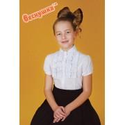 Блуза белая для школьницы 3000 ТМ Веснушка