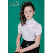 Блуза белая для школьницы 3504 ТМ Зиронька