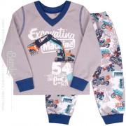 Пижама теплая для мальчика ПЖ41 Ескаватор (байка)  Бемби
