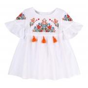 Платье-вышиванка летнее ПЛ287 Бемби