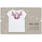 Футболка-вышиванка для девочки ФБ339 (супрем -печать) Бемби