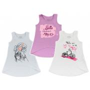 Майка для девочки мод.766 Фламинго-текстиль