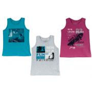 Майка-борцовка для мальчика мод.778 Фламинго-текстиль