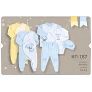 Комплект для новорожденного КП187 (велюр)  Бемби