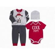 Комплект для мальчика КП204 красный (интерлок)  Бемби