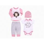 Комплект для девочки КП205 розовый (интерлок)  Бемби