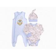 Комплект для новорожденного КП208 голубой (байка)  Бемби