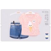Летний комплект для девочки КС506 Бемби