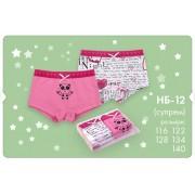 Набор трусы-шорты для девочки НБ12 (ребана) Бемби