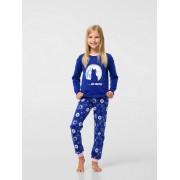 Пижама для девочки синяя (интерлок) ТМ Смил