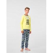 Пижама для мальчика желтая (интерлок) ТМ Смил
