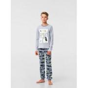 Пижама для мальчика серая (интерлок) ТМ Смил