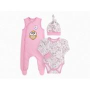 Комплект для новорожденного КП208 розовый (байка)  Бемби
