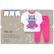 Пижама для девочки  на манжетах ПЖ39д (интерлок)  Бемби