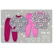 Пижама теплая для девочки ПЖ42 ПАНДА (байка) Бемби