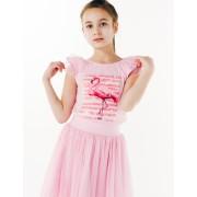 Майка с пайетками Нарядная одежда розовый фламинго ТМ Смил