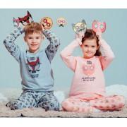 Пижама детская теплая Маски ТМ Смил