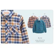 Рубашка для мальчика (фланель) РБ110 Бемби осень 2019