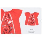 Блуза для девочки (вуаль) РБ119 корал Бемби
