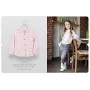 Рубашка для девочки (вискоза) РБ80 Бемби осень