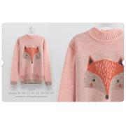 Вязаный свитер для девочки СВ25 Бемби