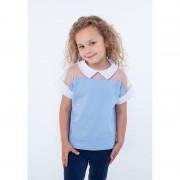 Блуза для девочки голубая ВидОли ТМ