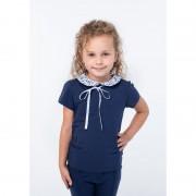 Блуза для девочки темно синяя ВидОли ТМ